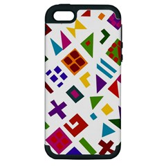 A Colorful Modern Illustration For Lovers Apple iPhone 5 Hardshell Case (PC+Silicone)