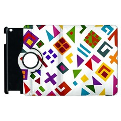 A Colorful Modern Illustration For Lovers Apple iPad 3/4 Flip 360 Case