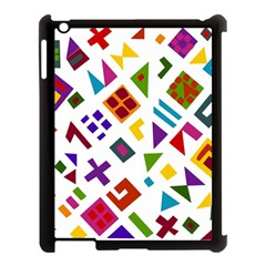 A Colorful Modern Illustration For Lovers Apple iPad 3/4 Case (Black)