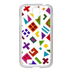 A Colorful Modern Illustration For Lovers Samsung GALAXY S4 I9500/ I9505 Case (White)
