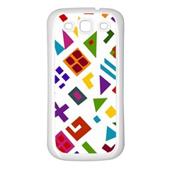 A Colorful Modern Illustration For Lovers Samsung Galaxy S3 Back Case (White)