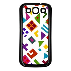 A Colorful Modern Illustration For Lovers Samsung Galaxy S3 Back Case (Black)