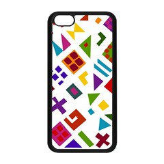 A Colorful Modern Illustration For Lovers Apple iPhone 5C Seamless Case (Black)