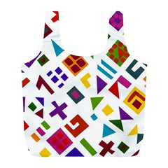 A Colorful Modern Illustration For Lovers Full Print Recycle Bags (L)