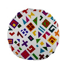 A Colorful Modern Illustration For Lovers Standard 15  Premium Flano Round Cushions