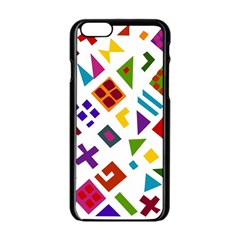 A Colorful Modern Illustration For Lovers Apple iPhone 6/6S Black Enamel Case