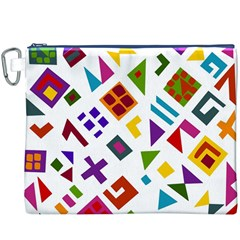 A Colorful Modern Illustration For Lovers Canvas Cosmetic Bag (xxxl)
