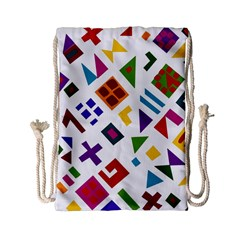 A Colorful Modern Illustration For Lovers Drawstring Bag (Small)