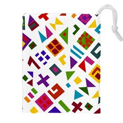 A Colorful Modern Illustration For Lovers Drawstring Pouches (xxl)