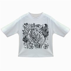 Black Abstract Floral Background Infant/Toddler T-Shirts