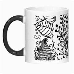 Black Abstract Floral Background Morph Mugs