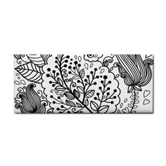Black Abstract Floral Background Cosmetic Storage Cases