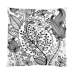 Black Abstract Floral Background Standard Cushion Case (One Side)