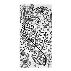 Black Abstract Floral Background Shower Curtain 36  X 72  (stall)