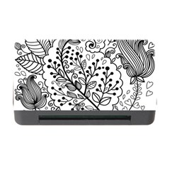 Black Abstract Floral Background Memory Card Reader with CF