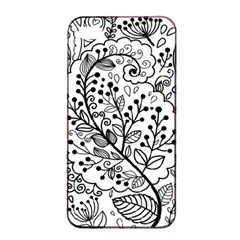 Black Abstract Floral Background Apple Iphone 4/4s Seamless Case (black)