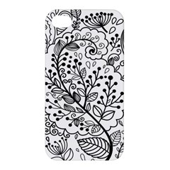 Black Abstract Floral Background Apple iPhone 4/4S Hardshell Case