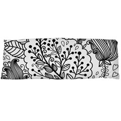 Black Abstract Floral Background Body Pillow Case Dakimakura (Two Sides)