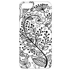 Black Abstract Floral Background Apple iPhone 5 Classic Hardshell Case