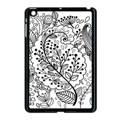 Black Abstract Floral Background Apple iPad Mini Case (Black)