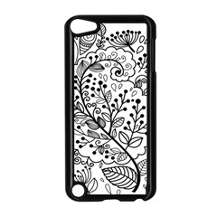 Black Abstract Floral Background Apple iPod Touch 5 Case (Black)
