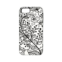 Black Abstract Floral Background Apple iPhone 5 Classic Hardshell Case (PC+Silicone)