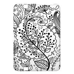 Black Abstract Floral Background Kindle Fire HD 8.9