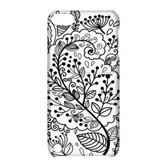 Black Abstract Floral Background Apple Ipod Touch 5 Hardshell Case With Stand