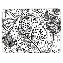 Black Abstract Floral Background Samsung Galaxy Tab 7  P1000 Flip Case