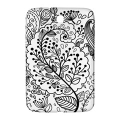 Black Abstract Floral Background Samsung Galaxy Note 8.0 N5100 Hardshell Case