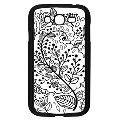 Black Abstract Floral Background Samsung Galaxy Grand DUOS I9082 Case (Black)