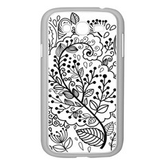 Black Abstract Floral Background Samsung Galaxy Grand DUOS I9082 Case (White)