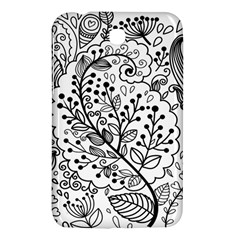 Black Abstract Floral Background Samsung Galaxy Tab 3 (7 ) P3200 Hardshell Case