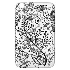 Black Abstract Floral Background Samsung Galaxy Tab 3 (8 ) T3100 Hardshell Case