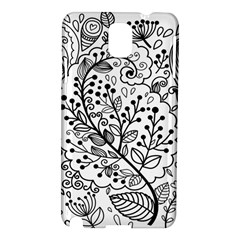 Black Abstract Floral Background Samsung Galaxy Note 3 N9005 Hardshell Case