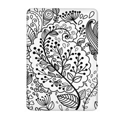 Black Abstract Floral Background Samsung Galaxy Tab 2 (10 1 ) P5100 Hardshell Case