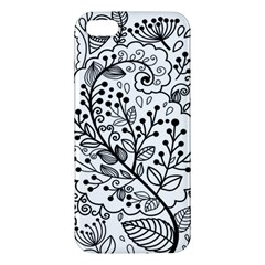 Black Abstract Floral Background iPhone 5S/ SE Premium Hardshell Case