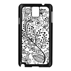 Black Abstract Floral Background Samsung Galaxy Note 3 N9005 Case (Black)