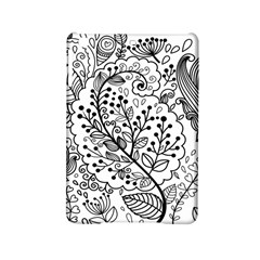 Black Abstract Floral Background Ipad Mini 2 Hardshell Cases