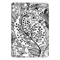Black Abstract Floral Background Amazon Kindle Fire Hd (2013) Hardshell Case