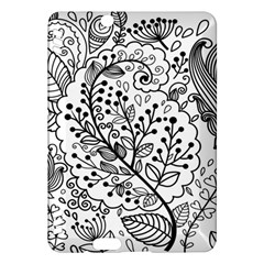Black Abstract Floral Background Kindle Fire HDX Hardshell Case