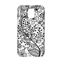 Black Abstract Floral Background Samsung Galaxy S5 Hardshell Case