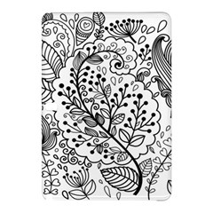 Black Abstract Floral Background Samsung Galaxy Tab Pro 12 2 Hardshell Case