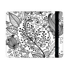 Black Abstract Floral Background Samsung Galaxy Tab Pro 8.4  Flip Case