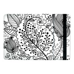 Black Abstract Floral Background Samsung Galaxy Tab Pro 10 1  Flip Case