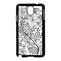 Black Abstract Floral Background Samsung Galaxy Note 3 Neo Hardshell Case (black)