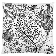 Black Abstract Floral Background Standard Flano Cushion Case (one Side)