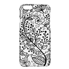 Black Abstract Floral Background Apple iPhone 6 Plus/6S Plus Hardshell Case