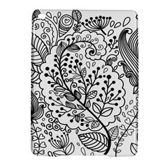 Black Abstract Floral Background iPad Air 2 Hardshell Cases