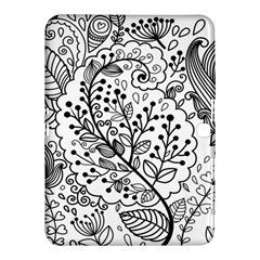 Black Abstract Floral Background Samsung Galaxy Tab 4 (10 1 ) Hardshell Case